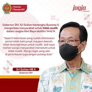 Gubernur DIY, Sri Sultan Hamengku Buwono X, mengimbau masyarakat untuk tidak m…