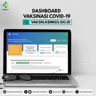 Kementerian Kesehatan meluncurkan Dashboard Vaksinasi COVID-19 melalui website…