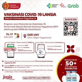 Vaksinasi Covid-19 Lansia  Daerah Istimewa Yogyakarta  Program resmi Kementria…