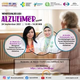 #Healthies,   Dalam Rangka Memperingati Hari Alzheimer Sedunia, RSPON Prof. Dr…