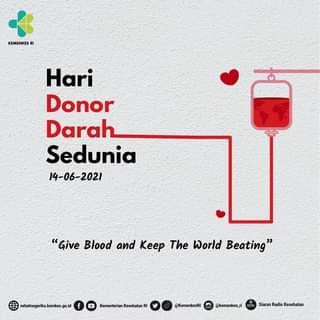 Selamat Hari Donor Darah Sedunia   Mari tebarkan kebaikan dan kebermanfaatan d…