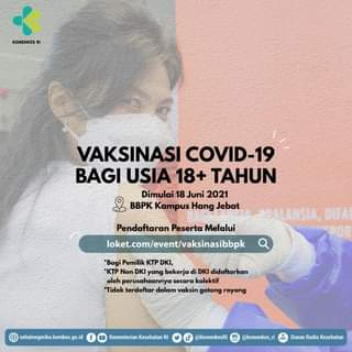 #Healthies, mulai hari ini BBPK Kampus Hang Jebat membuka pendaftaran vaksinas…