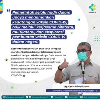 #Healthies,   10 juta bulk vaksin COVID-19 produksi Sinovac kembali tiba di In…