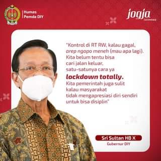 Jumat (18/06) siang, Gubernur DIY, Sri Sultan Hamengku Buwono X, menyatakan un…