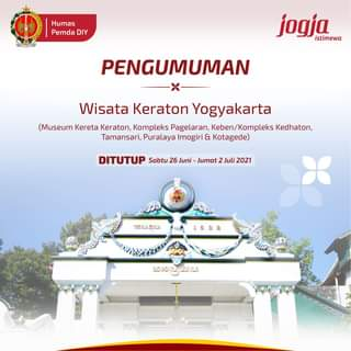 Sebagai langkah antisipasi penyebaran Covid-19, Wisata Keraton Yogyakarta ditu…