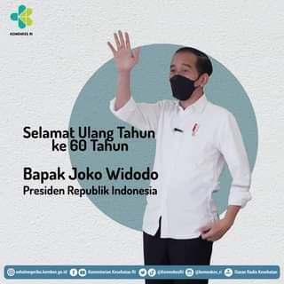 Selamat ulang tahun yang ke 60 Bapak Presiden Joko Widodo  Teriring doa semoga…