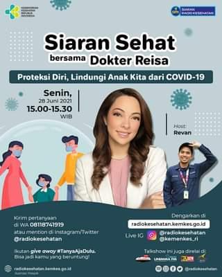 """Hai #Healthies   Saksikan siaran sehat bersama Dokter Reisa dengan tema """"Prote…"""