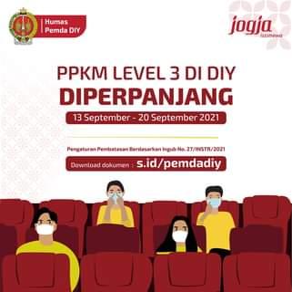 PPKM Level 3 DIY Diperpanjang  Sesuai dengan Instruksi Gubernur No.27/INSTR/20…