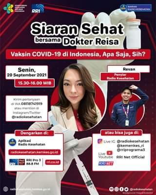 "Hai #Healthies   Saksikasn Siaran Sehat bersama Dokter Reisa ""Vaksin COVID-19 …"